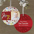 Personalized Joy To The World Hanging Ornament Cards