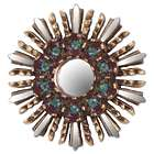 Cuzco Garden Wood and Reverse Painted Glass Wall Mirror