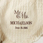 Couple's Personalized Wedding and Anniversary Afghan