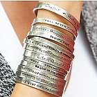 Notes to Self Inspirational Message Cuff Bracelet
