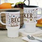 Family Word Art Travel Mug