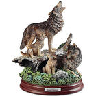 Spring Serenade Wolf Family Sculpture