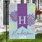 Personalized Abstract Floral Garden Flag
