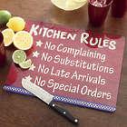 Kitchen Rules 12x15 Glass Cutting Board
