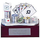 Poker Cards and Chips Personalized Clock