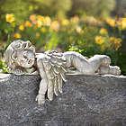 Softly Sleeping Angel Garden Statue