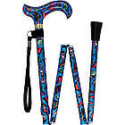 Blue Skies Butterfly Designer Derby Folding Walking Cane