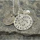 Happily Ever After Personalized Hand Stamped Necklace