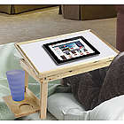 Adjustable Tilting Bed Tray with Side Tables