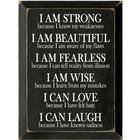 I Am Strong Wooden Plaque