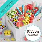 Sweet Surprises Gift Crate with Personalized Ribbon