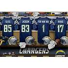 San Diego Chargers 16x24 Personalized Locker Room Canvas