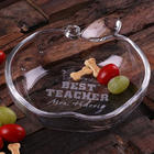 Personalized Apple Shaped Glass Dish