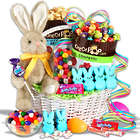 International Classic Sweets Easter Gift Basket with Bunny