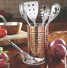 Stainless Steel 6 Piece Kitchen Tool Set with Caddy