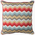 "22"" Square Outdoor Zigzag Pillow"