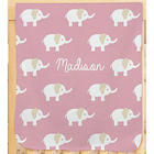 Personalized Baby Elephant Fleece Blanket