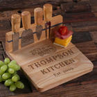 Personalized Wood Cheese Board with Tools