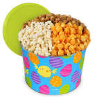 2 Gallons of People's Choice Mix Popcorn in Easter Tin
