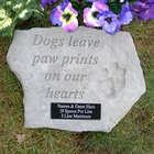 Dogs Leave Paw Prints Personalized Memorial Stone