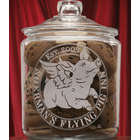 Personalized Flying Pig Theme Cookie Jar