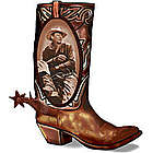 John Wayne Walking Tall Boot Lamp