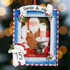 Personalized Santa and Me Photo Ornament
