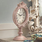 Pink Pedestal Table Clock