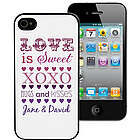 Love is Sweet Personalized iPhone Case