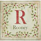 Personalized Family Initial and Name Holly Canvas