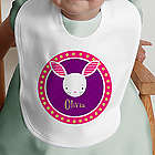 Personalized Trendy Bunny Bib for Boy or Girl