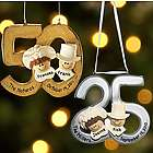 Personalized 25th or 50th Wedding Anniversary Christmas Ornament