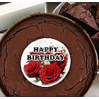 Brownie Cake with Birthday Roses Graphic