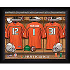 Personalized Miami Hurricanes Football Locker Room Print