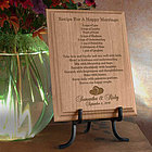 Personalized Recipe For A Happy Marriage Wooden Plaque