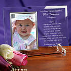 Engraved Godparent's Promise Beveled Glass Baptism Frame