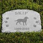 Personalized Dog Breed Memorial Stone