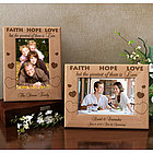 Personalized The Greatest of These is Love Wooden Picture Frame
