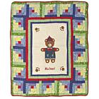 Personalized Boy Bear Baby Quilt