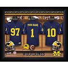 Personalized Michigan Wolverines Football Locker Room Print