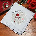 Forever In Our Hearts Personalized Memorial Handkerchief