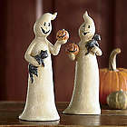 Set of 2 Friendly Ghosts Figurines
