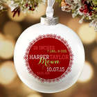 Baby's First Christmas Personalized Globe Ornament