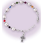 Multicolor First Communion Bracelet