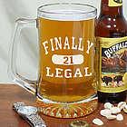 Finally Legal 21st Birthday Glass Mug