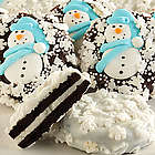 Snowman Belgian Chocolate Covered Oreo Cookies