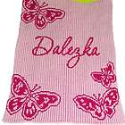 Personalized Butterfly Stroller Blanket