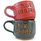 Hot Mama and Big Daddy Pottery Mugs