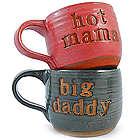 Hot Mama and Big Daddy Pottery Mugs