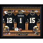 Personalized Purdue Boilermakers Football Locker Room Print